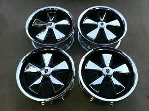 Detailed Porsche Fuchs Wheels chrome 17 x7 All 4 Wheels
