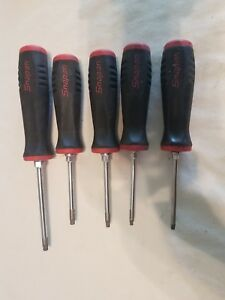 Snap on 5 Pc Torx Instinct Soft Grip Red Screwdriver Set