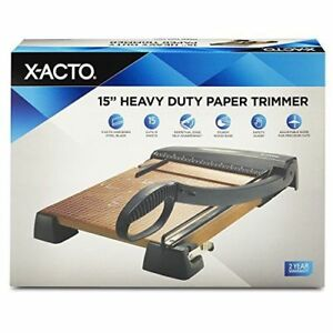 X acto Large Heavy Duty Wood Guillotine Trimmer And Paper Cutter 15 Inches