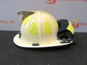 Morning Pride Ht bf2 hdo Firefighters Helmet White Goggles Turnout Neck Cairns