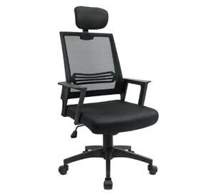 Swivel Office Height Adjustable Mesh Desk computer Chair With headrest black