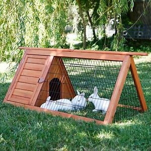 Hutch Rabbit Animal Wooden House Cage Coop Pet Outdoor Chicken Small Run Hen
