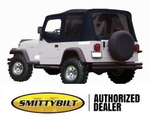 New 1988 1995 Soft Top For Half Doors Black 9870215 For Jeep Wrangler Yj