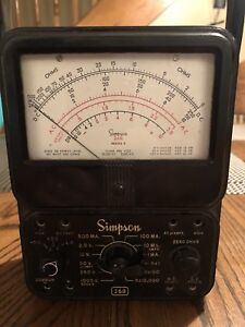 Simpson 260 Series 3 Vom Multimeter With Leather Case And Test Leads