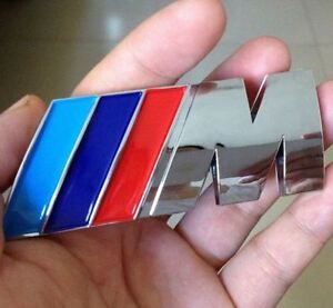 New 3d M Badge M Abs Rear Emblem Sticker Logo Decal For M3 M5 X1 X3 X5 X6 E36