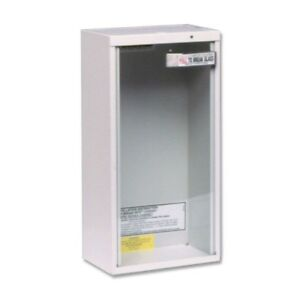 10 Lbs Surface Mount Fire Extinguisher Cabinet Storage Tempered Glass Steel