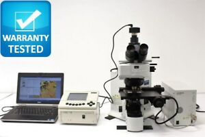 Microscope Olympus Bx61 Motorized Transmitted Reflected Bf