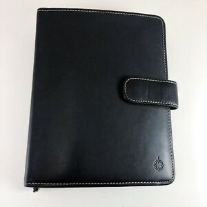 Franklin Covey Full Grain Leather Double Sided Planner 7 Rings Binder Organizer