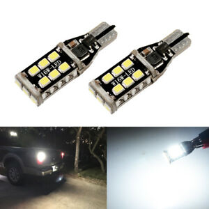 Total 1200lm White High Power Led T15 921 912 W16w Backup Reverse Light Bulbs