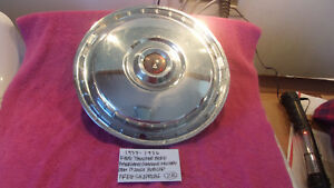 1955 1956 Ford Thunderbird Fairlane Genuine Vintage 15 Inch Hubcap Free Shipping