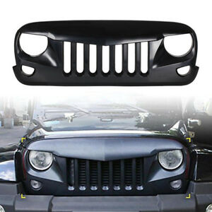 Eagle Eye Front Hood Grille Angry Bird Grill Grille For 07 17 Jeep Wrangler Jk