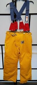 Honeywell Morning Pride Firefighter Turnout Pants W Suspenders Size 36x30