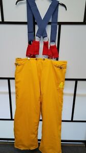 Honeywell Morning Pride Firefighter Turnout Pants W Suspenders Size 42x30