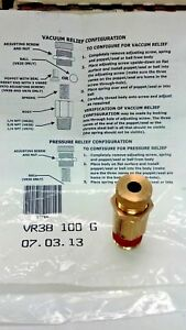 Vacuum pressure Relief Valve Control Devices Llc Vr Series Mnpt Inlet 3 8