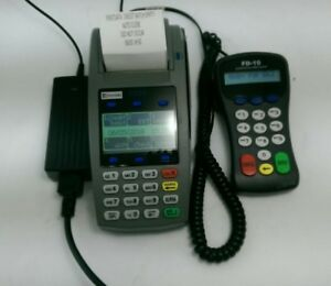 First Data Fd50 Credit debit Terminal W Fd 10 Pin Pad used