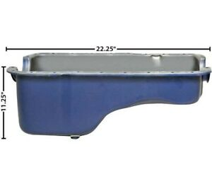1965 1987 Ford Mustang Oil Pan Blue Small Block Hiop Engines 260 289 302 M3586