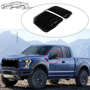 Mirror Covers For 2015 2016 2017 2018 Ford F150 Gloss Black Overlay Trim Non Tow
