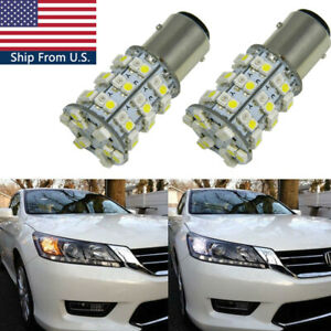 60 smd Switchback Led Front Turn Signal Light Bulbs For Honda Accord Civic Cr v