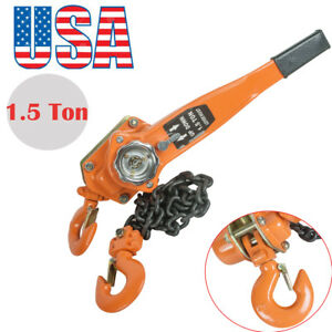 1 5t 5ft Lever Block Hoist Lift Winch Chain Ratcet Ratcheting Comealong Handpull