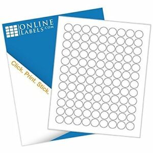 Online Labels 0 75 Round Labels Circle Stickers White Matte
