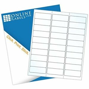 Online Labels 2 625 X 1 Waterproof Clear Gloss Address Labels