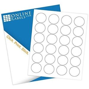 Online Labels 1 67 Round Labels Circle Stickers White Matte