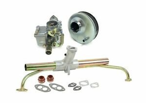 Vw Beetle 34 Pict 3 Dual Port Carburetor Intake Air Cleaner Kit Bug Dune Buggy