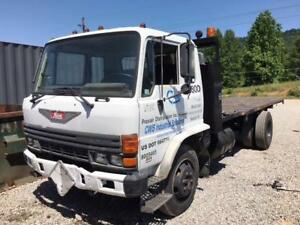 1988 Hino Fd17 Flatbed Truck With H07c f Inline 6 cyl Diesel Engine 74k Miles