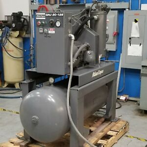 Used Atlas Copco Gau 20 Rotary Screw Air Compressor 460 Volt 20 Hp