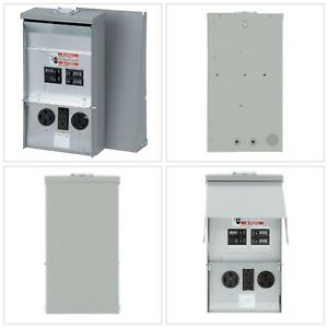 Rv Electrical Power Outlet Panel Box Unmetered Outdoor Camping Accessory New