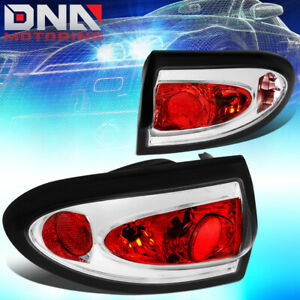 For 2003 2005 Chevy Cavalier Pair Chrome Housing Altezza Tail Light Brake Lamps