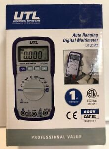 Uei Test Instruments Utldm2 600v Auto Ranging Digital Multimeter With T New