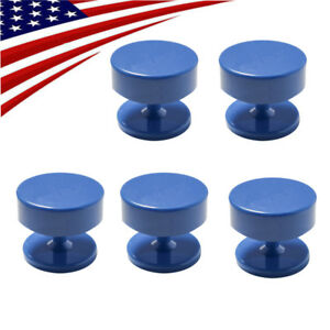 5x Magnetic Round Stand Dental Lab Bur Burs Block Holder Station For Burs Drills