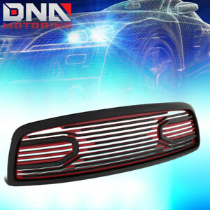 For 2009 2012 Ram 1500 Big Horn Front Bumper Packaged Grille W Shell Black Red