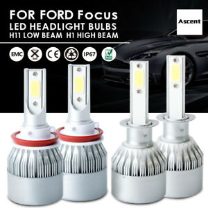 Highpower Cree H11 H1 Led Headlight Conversion Kit Bulb For Ford Focus 2014 2012