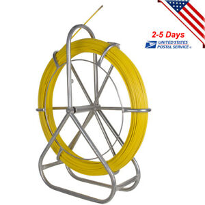 Portable Fish Tape Fiberglass Wire Cable Running Rod Duct Rodder Puller 6mm Usa