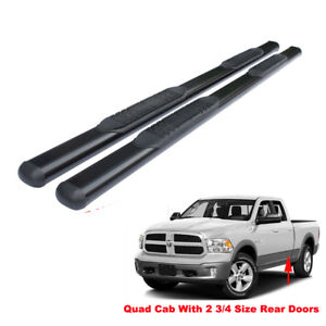 4 Black Running Boards For 09 18 Dodge Ram 1500 Quad Ext Cab Side Step Nerf Bar