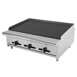 Asber Aecrb 36 36 Countertop Gas Char Rock Broiler