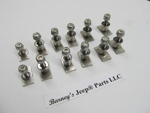 Jeep Cj7 Cj8 Scrambler Rocker Trim Bolt Set Of 12 New