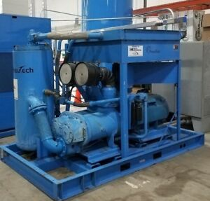 Used Sullivan Palatek 350ud Vsd 350 Hp Rotary Screw Air Compressor Low Hrs 480v