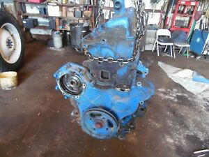 1967 Ford 4000 3 Cylinder Gas Farm Tractor Engine ran Good At Removal