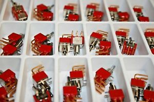 70 Pack C k U21 Series Mini Toggle Switches Dpdt On on 5a 125vac 101 123