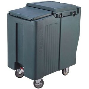 Cambro Ics125t Portable Mobile Ice Bin Caddy Storage Sliding Lid 125 Lb Capacity