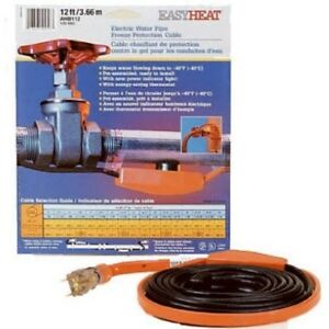 Easy Heat 12 Ft 120v Pipe Heating Cable