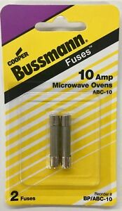 Bussman Bp abc 10 Microwave Oven Fuse 10 Amp