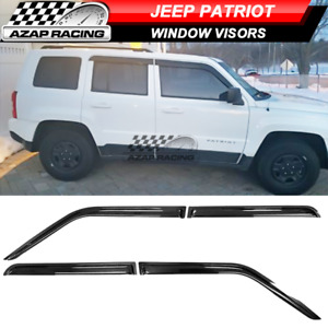 Fits 07 16 Jeep Patriot Slim Acrylic Window Visors 4pc