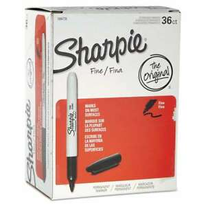 Sharpie Fine Point Permanent Marker Black 36 pack 071641072817