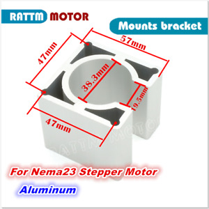 Nema23 Motor Mount Bracket For 57 Stepper Motor Aluminum Alloy Holder Cnc Router