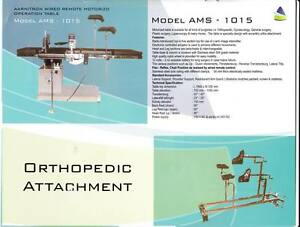 Wire Remote C arm Compatible Motorized Ot Table With Ortho Attachments