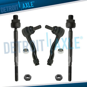 Fits 2003 2004 2005 2006 2007 2008 Infiniti Fx35 Front Inner Outer Tie Rod Set